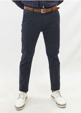 Red Tree Cotton Chino Men Pants - Navy Blue RT5004