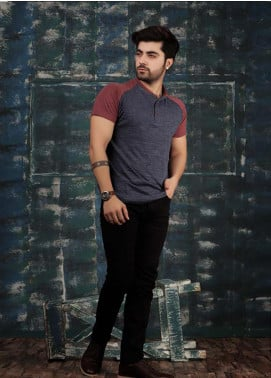 Red Tree Cotton Casual Style Men T-Shirts - Maroon RT1596