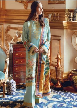 Regal Fantasy by Raaya Embroidered Cottel Linen Unstitched 3 Piece Suit RR20RF Retroican - Winter Collection