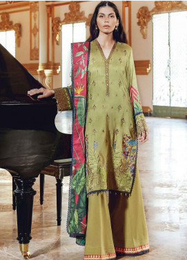 Regal Fantasy by Raaya Embroidered Cottel Linen Unstitched 3 Piece Suit RR20RF Aveline - Winter Collection