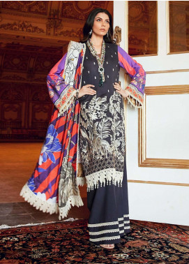 Regal Fantasy by Raaya Embroidered Cottel Linen Unstitched 3 Piece Suit RR20RF Jasmine - Winter Collection