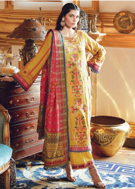 Regal Fantasy by Raaya Embroidered Cottel Linen Unstitched 3 Piece Suit RR20RF Melody - Winter Collection