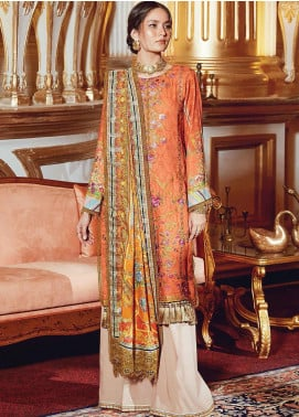 Regal Fantasy by Raaya Embroidered Cottel Linen Unstitched 3 Piece Suit RR20RF Musier - Winter Collection