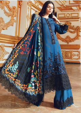 Regal Fantasy by Raaya Embroidered Cottel Linen Unstitched 3 Piece Suit RR20RF Bohemia - Winter Collection