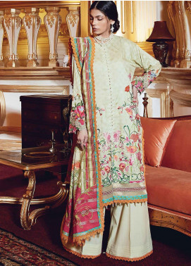 Regal Fantasy by Raaya Embroidered Cottel Linen Unstitched 3 Piece Suit RR20RF Rouge - Winter Collection
