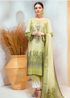 Regalia Textiles Embroidered Lawn Unstitched 3 Piece Suit RG20D-3 4 - Spring / Summer Collection