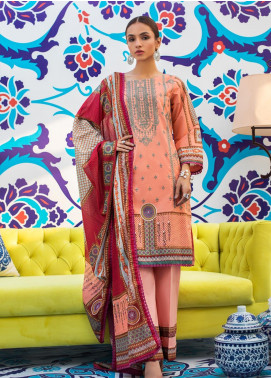 Regalia Textiles Embroidered Lawn Unstitched 3 Piece Suit RG20D 01 - Summer Collection