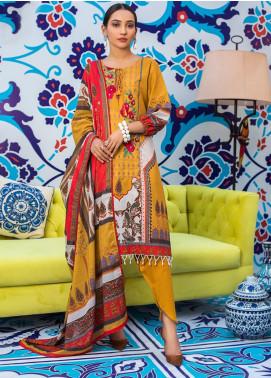 Regalia Textiles Embroidered Lawn Unstitched 3 Piece Suit RG20D 08 - Summer Collection