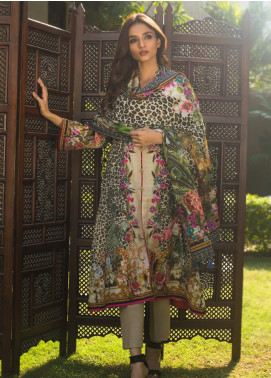 Regalia Textiles Printed Khaddar Unstitched 3 Piece Suit RG19KD 01 - Luxury Collection