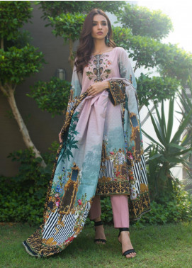 Regalia Textiles Printed Khaddar Unstitched 3 Piece Suit RG19KD 03 - Luxury Collection