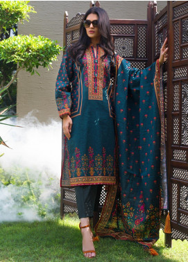 Regalia Textiles Printed Khaddar Unstitched 3 Piece Suit RG19KD 04 - Luxury Collection