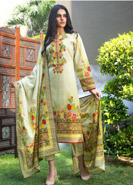 Regalia Textiles Printed Khaddar Unstitched 3 Piece Suit RG19KD 05 - Luxury Collection