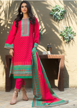Regalia Textiles Printed Khaddar Unstitched 3 Piece Suit RG19KD 06 - Luxury Collection