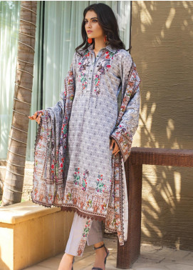 Regalia Textiles Printed Khaddar Unstitched 3 Piece Suit RG19KD 08 - Luxury Collection