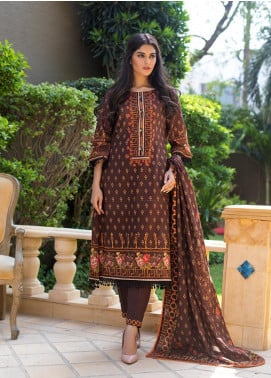Regalia Textiles Printed Khaddar Unstitched 3 Piece Suit RG19KD 10 - Luxury Collection