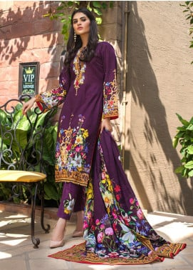Regalia Textiles Printed Khaddar Unstitched 3 Piece Suit RG19KD 11 - Luxury Collection