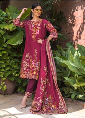 Regalia Textiles Printed Khaddar Unstitched 3 Piece Suit RG19KD 12 - Luxury Collection