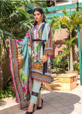 Regalia Textiles Printed Khaddar Unstitched 3 Piece Suit RG19KD 13 - Luxury Collection