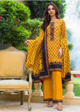 Regalia Textiles Printed Khaddar Unstitched 3 Piece Suit RG19KD 14 - Luxury Collection