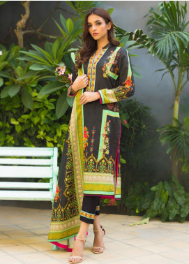 Regalia Textiles Embroidered Khaddar Unstitched 3 Piece Suit RG19KD 16 - Luxury Collection