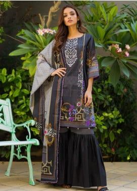 Regalia Textiles Printed Khaddar Unstitched 3 Piece Suit RG19KD 17 - Luxury Collection
