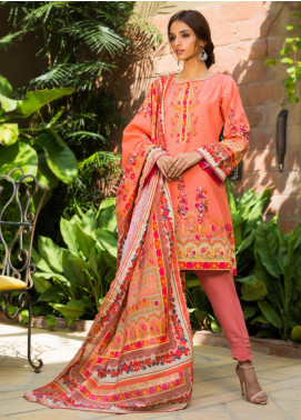 Regalia Textiles Printed Khaddar Unstitched 3 Piece Suit RG19KD 18 - Luxury Collection