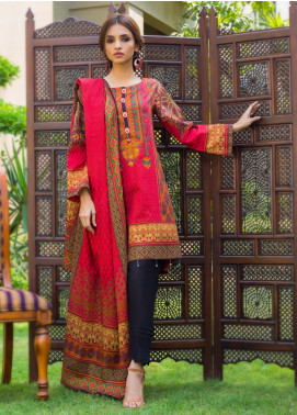 Regalia Textiles Printed Khaddar Unstitched 3 Piece Suit RG19KD 20 - Luxury Collection