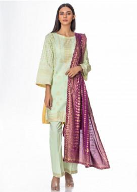 Regalia Textiles Printed Banarsi Unstitched 3 Piece Suit RG20GB 2 - Formal Collection