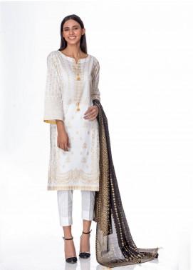 Regalia Textiles Printed Banarsi Unstitched 3 Piece Suit RG20GB 3 - Formal Collection