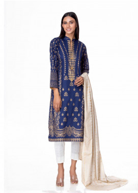 Regalia Textiles Printed Banarsi Unstitched 3 Piece Suit RG20GB 4A - Formal Collection