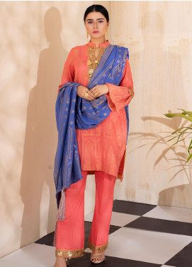Regalia Textiles Embroidered Jacquard Unstitched 3 Piece Suit RGJ20  4 - Spring / Summer Collection