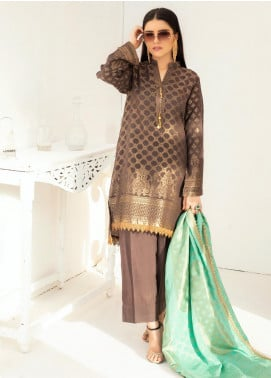 Regalia Textiles Embroidered Jacquard Unstitched 3 Piece Suit RGJ20-6 2 - Spring / Summer Collection