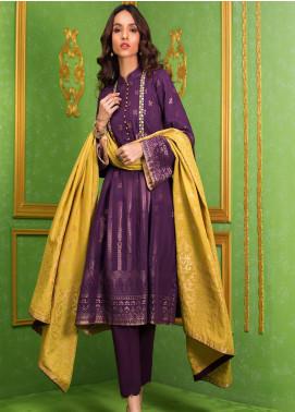 Regalia Printed Jacquard Unstitched 3 Piece Suit RG20-J3 1 - Luxury Collection