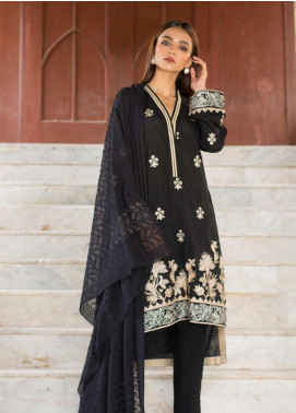 Regalia Textiles Embroidered Lawn Unstitched 3 Piece Suit RG19BW 06 - Black & White Collection