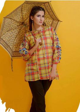 Rehaab by Jaffrani Textiles Embroidered Lawn Stitched Kurtis RHB19P FEC-156 GOLD CIRCLE