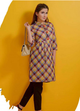 Rehaab by Jaffrani Textiles Embroidered Lawn Stitched Kurtis RHB19P FEC-158 MULBERRY