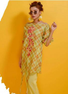 Rehaab by Jaffrani Textiles Embroidered Lawn Stitched Kurtis RHB19P FEC-160 OLIVE