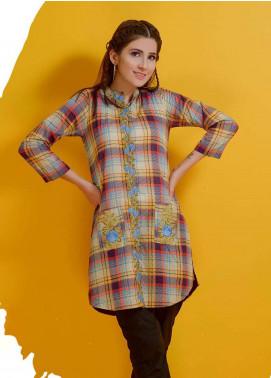 Rehaab by Jaffrani Textiles Embroidered Lawn Stitched Kurtis RHB19P FEC-161 UMBER GREY