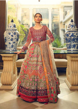 Rehaab by Jaffrani Textiles Embroidered Velvet Unstitched Sharara RHB19WE MUGHAL TALES - Wedding Collection