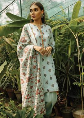 Rehab By Qalamkar Embroidered Jacquard Unstitched 3 Piece Suit QLM19R 01 KASHMIRI TANKA - Winter Collection