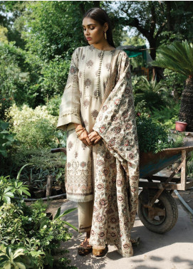 Rehab By Qalamkar Embroidered Jacquard Unstitched 3 Piece Suit QLM19R 02 CHAWAL TANKA - Winter Collection