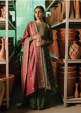 Rehab By Qalamkar Embroidered Jacquard Unstitched 3 Piece Suit QLM19R 03 ZARDOZI KARI - Winter Collection