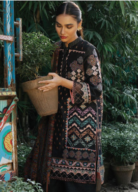Rehab By Qalamkar Embroidered Jacquard Unstitched 3 Piece Suit QLM19R 04 FRENCH KNOTS - Winter Collection