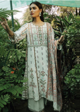Rehab By Qalamkar Embroidered Jacquard Unstitched 3 Piece Suit QLM19R 07 CROSS STITCH - Winter Collection