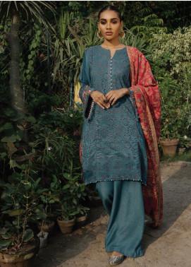 Rehab By Qalamkar Embroidered Schiffli Unstitched 3 Piece Suit QLM19R 09 SCHIFFLI - Winter Collection