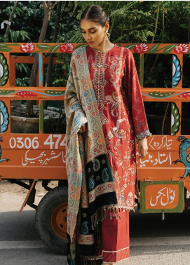 Rehab By Qalamkar Embroidered Jacquard Unstitched 3 Piece Suit QLM19R 10 DOUBLE SIDED SHAWL - Winter Collection