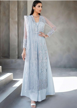 Amour & Bonheur by Reign Embroidered Net Unstitched 3 Piece Suit RGN21AB 02 Cresie - Luxury Festive Collection