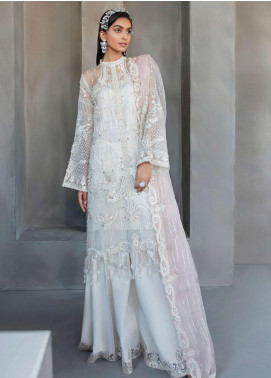 Amour & Bonheur by Reign Embroidered Organza Unstitched 3 Piece Suit RGN21AB 06 Aliciya - Luxury Festive Collection