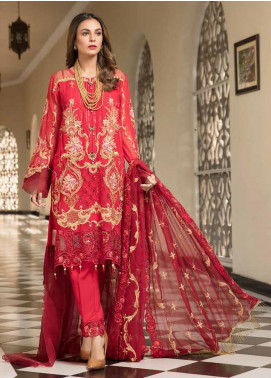 Resham by Sanoor Embroidered Chiffon Unstitched 3 Piece Suit SN20RE 01 - Luxury Collection