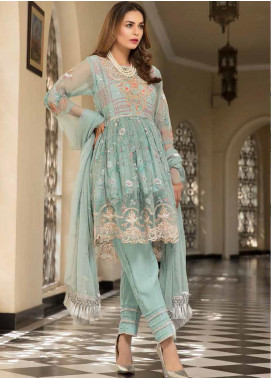Resham by Sanoor Embroidered Chiffon Unstitched 3 Piece Suit SN20RE 03 - Luxury Collection